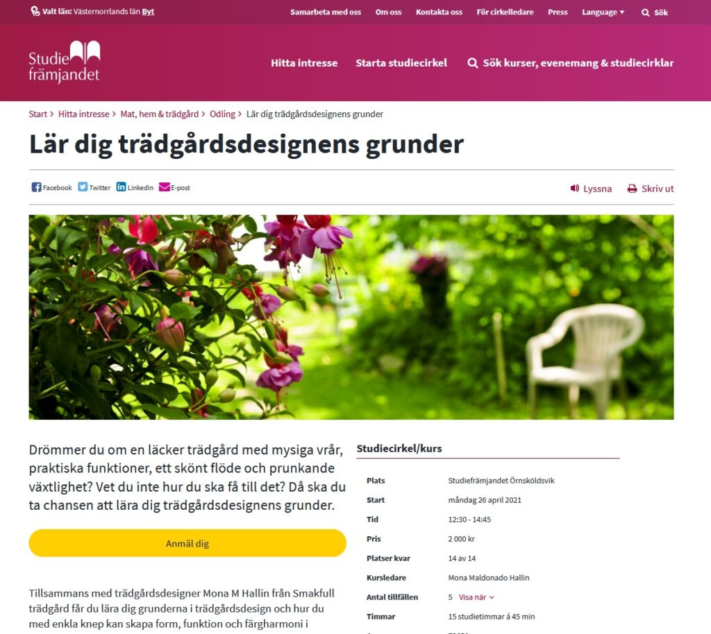 Studiecirkel om trädgård